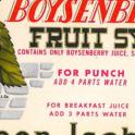 Queen Isabella Boysenberry Fruit Syrup Label