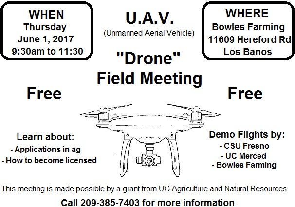 UAV Field Meeting at Bowles Farming 2017